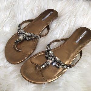 Gold Vera Wang Lavender sandals
